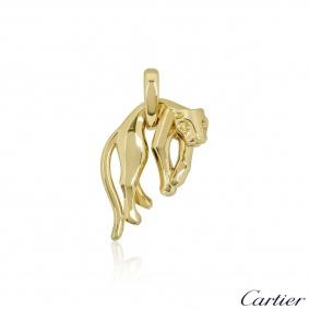 Cartier Yellow Gold Hanging Panthere De Cartier Pendant